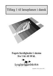 Tillæg 1 til læseplanen i dansk - Lyngbjerggaardskolen