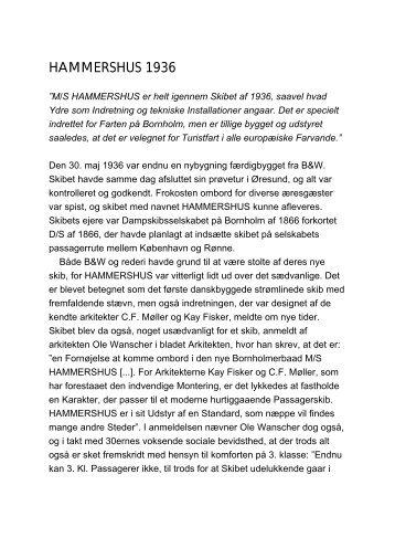 HAMMERSHUS 1936 - Handels- og Søfartsmuseet