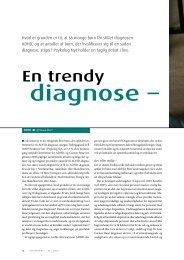 En trendy diagnose - Dansk Psykolog Nyt Nr. 23 2009 - neuroaffect.dk