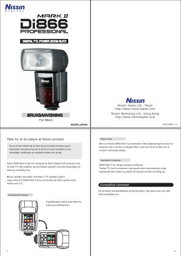 NO_Di866_Mark II User's manual_N1110REV1.1 - Nissin Japan