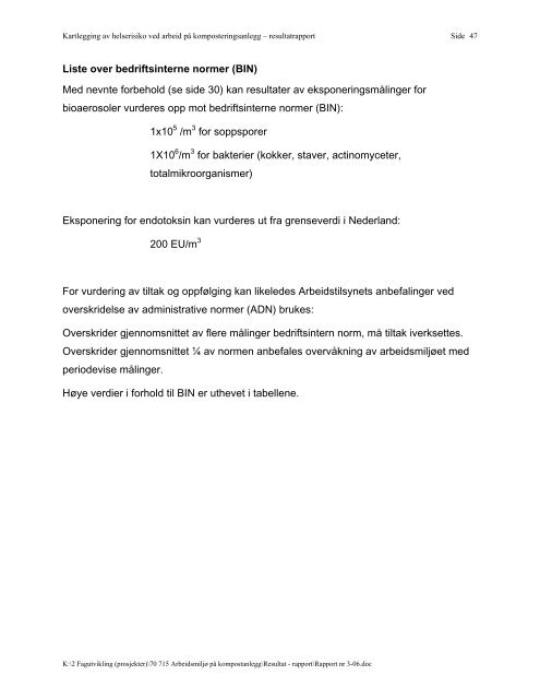 Rapport nr 3-06 - Avfall Norge