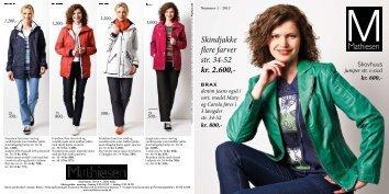 Skindjakke flere farver str. 34-52 kr. 2.600,- denim ... - Mathiesen Mode
