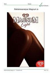 Reklameanalyse Magnum is - Vikartimen