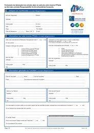 Formulaire de déclaration de sinistre dans le cadre de votre licence ...