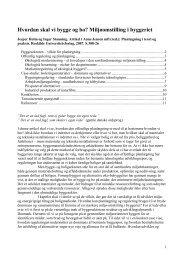 Miljø-omstilling og innovation i byggesektoren - Klimaændringer og ...