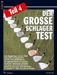 Lob Wedge-Test. G.O.L.F.-TIME präsentiert in Kooperation mit der T ...