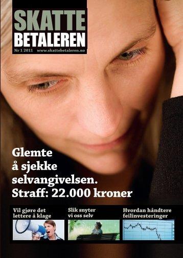 Skattebetaleren 1 2011 - Skattebetalerforeningen