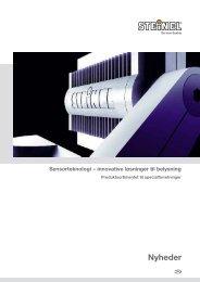 Sensorteknologi – innovative løsninger til ... - BROMMANN ApS