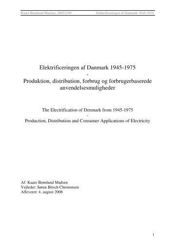 Elektrificeringen af Danmark 1945-1975 - Dansk Center for Byhistorie