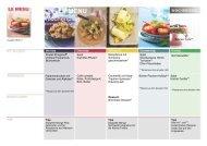 Mit dem LE MENU Wochenplan isst Ihre Familie gesund. (52 Zeichen)