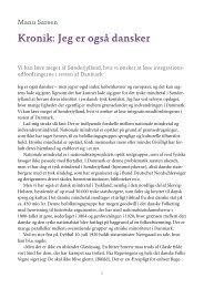 Kronik: Jeg er også dansker - Forlaget Columbus