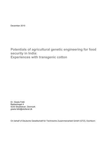 Potentials of agricultural genetic engineering for food security ... - GIZ