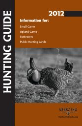 2012 Hunting Guide - Nebraska Game and Parks Commission