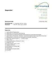 Dagsorden - Faxe Forsyning