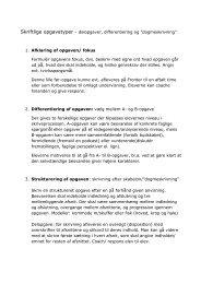 Skriftlige opgavetyper – delopgaver, differentiering ... - Ny skriftlighed