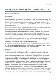 Notat: Fjernvarmeprisen i Danmark 2012 - Løsning Fjernvarme Amba