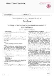 Betænkning Forslag til lov om mæglings- og klageinstitutionen for ...