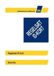 Regelsæt for ID-kort og bilpas 2013 - Københavns Lufthavne