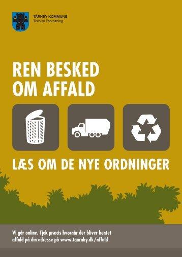 Ren besked om affald - Tårnby Kommune