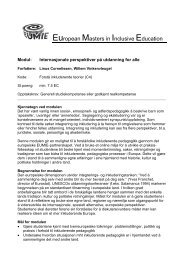 European Masters in Inclusive Education - Pädagogische ...
