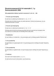 Eksamensspørgsmål til hf matematik C, 1.p Sommereksamen 2009