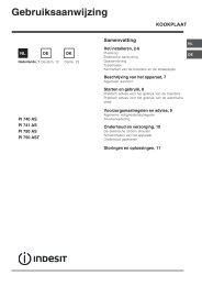 Gebruiksaanwijzing - Indesit