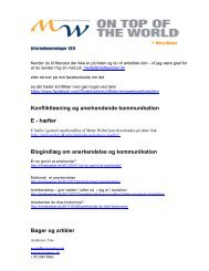 Litteraturliste konfliktløsning og anerkendende ... - Mette Weber