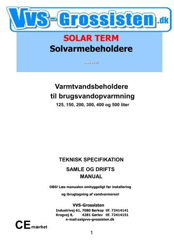 125-500 SOLARTERM MANUAL 270710 - VVS Grossisten