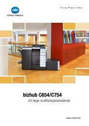 bizhub C654 C754 Brosjyre web - Thorsen Gruppen