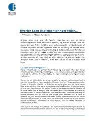 HvoHvorfor Lean implementeringer fejler… - Bülow management