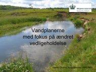 Vandplanerne med fokus på ændret vedligeholdelse - LandbrugsInfo