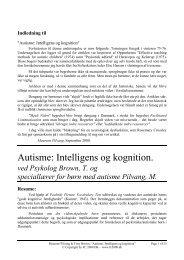 Autisme: Intelligens og kognition