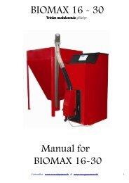 BIOMAX 16 - 30 Manual for BIOMAX 16-30 - VVS-Experten