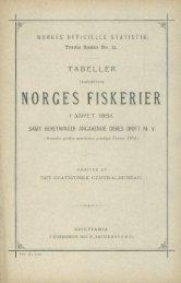 Tabeller vedkommende Norges fiskerier i aaret 1884 samt ...