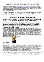 Månedsmail januar 2011 - Middelfart Musikskole