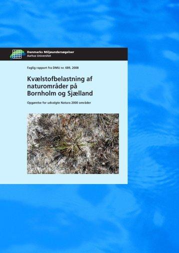Kvælstofbelastning af naturområder på Bornholm og Sjælland