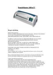 PouchMaster 18Pro™ Brugervejledning - Lomax