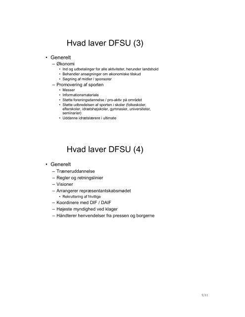 Referat - Dansk Frisbee Sport Union