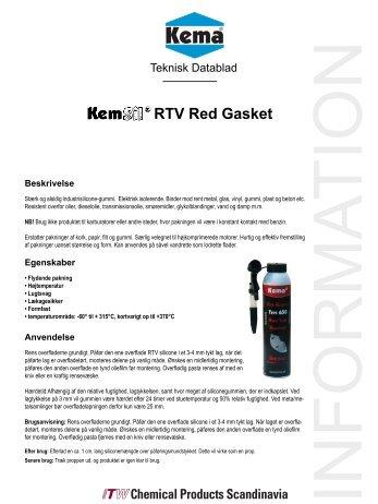 RTV Red Gasket tds.indd - KEMA