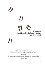 Analyse af efteruddannelsesbehovet inden for gardinområdet - Træ