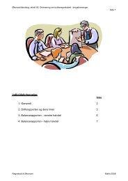 Indholdsfortegnelse: Side 1. Generelt 2 2. Driftsrapporten og dens ...