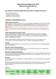Sjællandsmesterskaberne for 2010 Sponsoreret af ... - Distrikt 5
