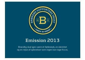 Emission 2013 - Brøndby Supporters Trust