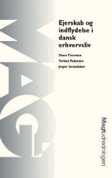 Ejerskab og indflydelse i dansk erhversliv - Aarhus Universitetsforlag