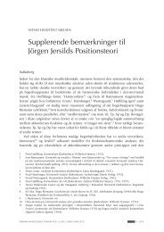Supplerende bemærkninger til Jörgen Jersilds Positionsteori