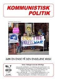Kommunistisk Politik 7, 2010