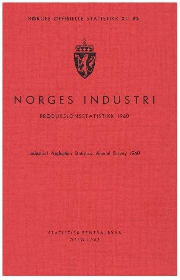XII 81 1960 - Statistisk sentralbyrå