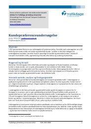 Kundepræferenceundersøgelse - Trafikdage.dk