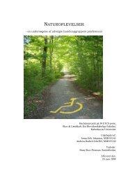 Naturoplevelser- en undersøgelse af udvalgte ... - Naturstyrelsen