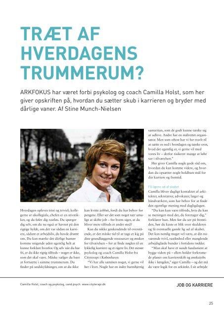 TEMA: ARKITEKTER Pu KARRIEREVEJEN ... - Arkitektforbundet